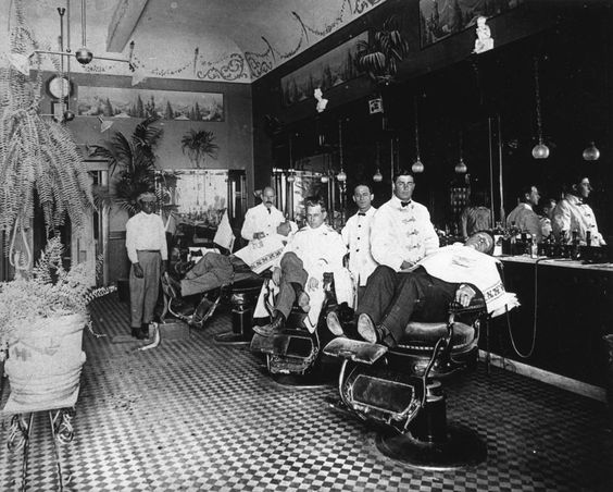Barber shop owned and operated by Billy Frantz located
