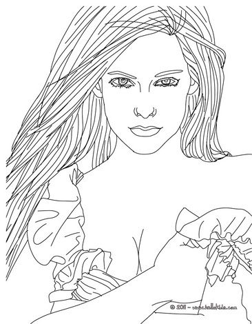 AVRIL LAVIGNE coloring pages : 10 free online coloring