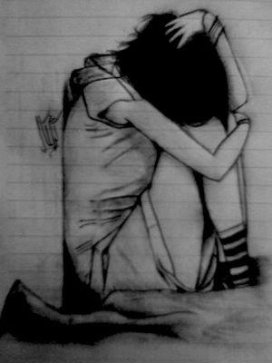 sad drawings pencil lonely easy drawing sketches google depression deep deviantart profile face artwork silkroad amazing forums kr