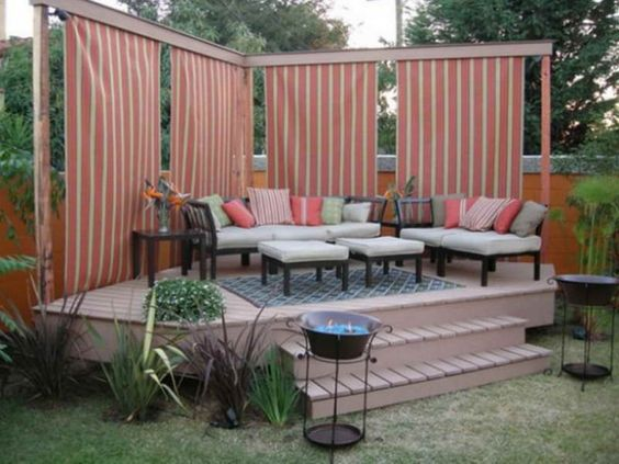Outdoor Attractive Privacy Ideas For Decks Giving Chic Backyard