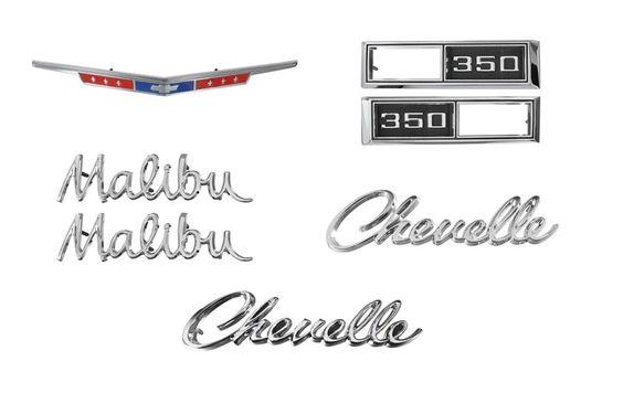 EMBLEM KIT, 68 CHEVELLE 350 Camaro Parts/Chevelle Parts/El