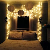 My bedroom oasis: Twinkle lights, white, and stripes ...