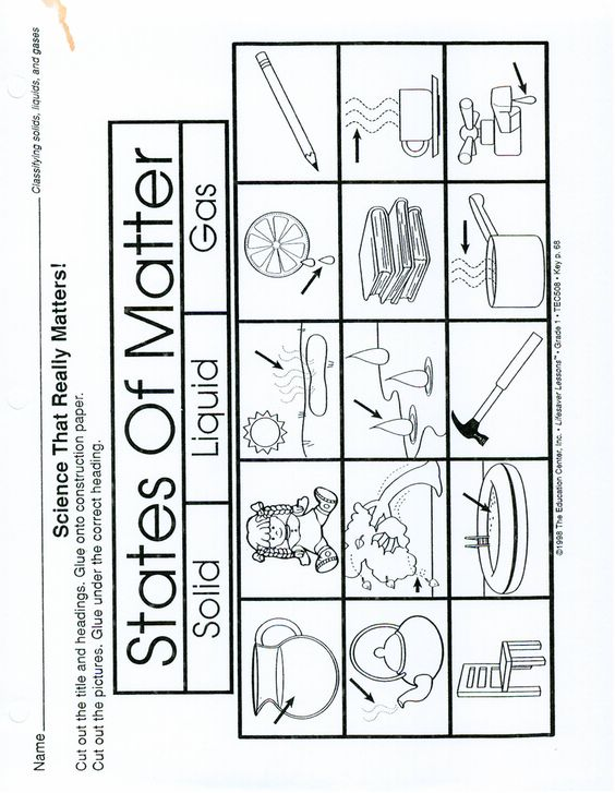 Matter Solid Liquid Gas Worksheet Sketch Coloring Page