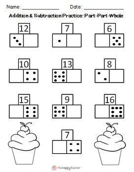 Addition & Subtraction Printables {Part-Part-Whole