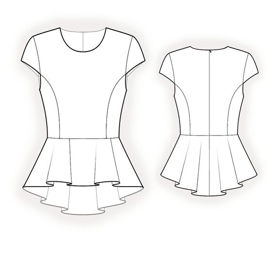 Sewing patterns, Peplum blouse and Sleeve on Pinterest