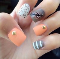 Feather nail art, Pedicures and Pastel on Pinterest