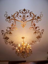 stencil ceiling | 600 jewels glued to stencil dining room ...