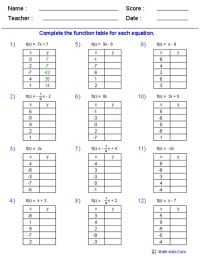 Math Worksheets Go Evaluating Functions Answers - math ...