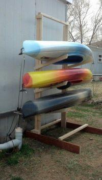 Kayak storage rack!!!!   D.I.Y.   Pinterest   Boys, Kayak ...