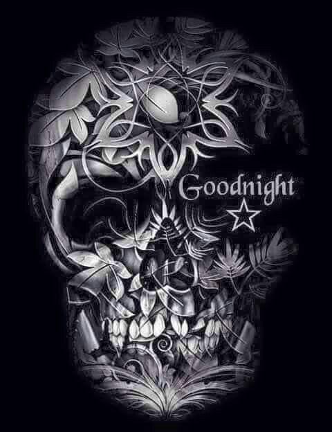 Good Night Skull  Skulls  Pinterest  Clothing, Good