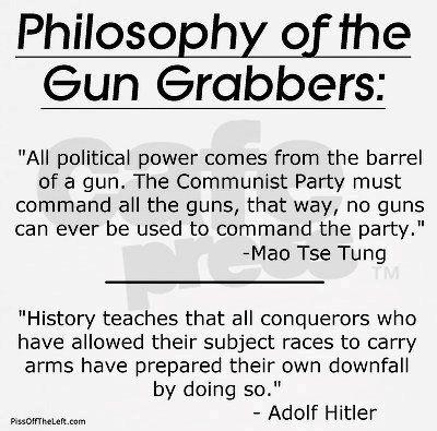 quotes on gun control by Mao Tse Tung & Adolf Hitler