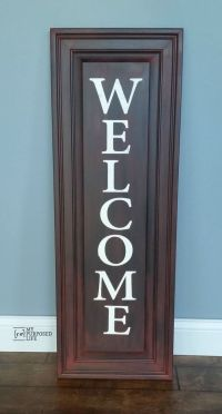 How to make an easy WELCOME sign out of a repurposed ...