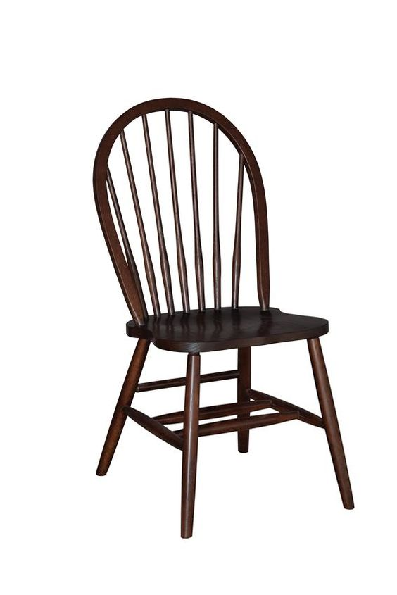 Amish 7Spindle Bow Back Dining Room Chair  Amish