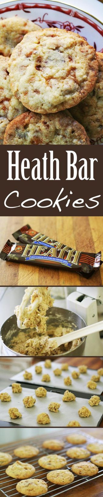 Heath Bar Cookies - 5 Amazingly Easy Candy Bar Cookie Recipes