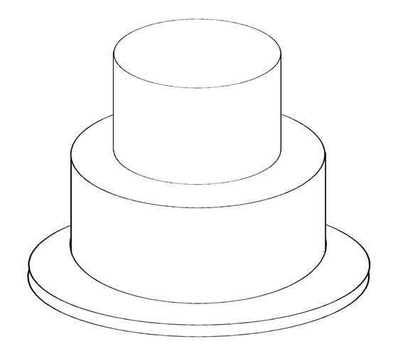 Round cakes, Cake baking and Templates on Pinterest