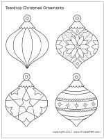 Wonderful site for printable Christmas ornaments to paint