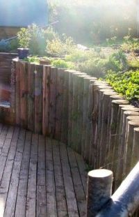 Retaining walls, Logs and Galleries on Pinterest