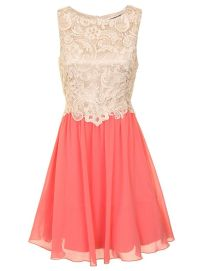 cream and coral lace bridesmaid dress | Dressing to the 9s ...