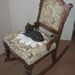 Rocking Nursing Chair Ikea Butterfly Petite Antique Eastlake Chair, Victorian Ladies' Sewing Or Chair.   Baby ...