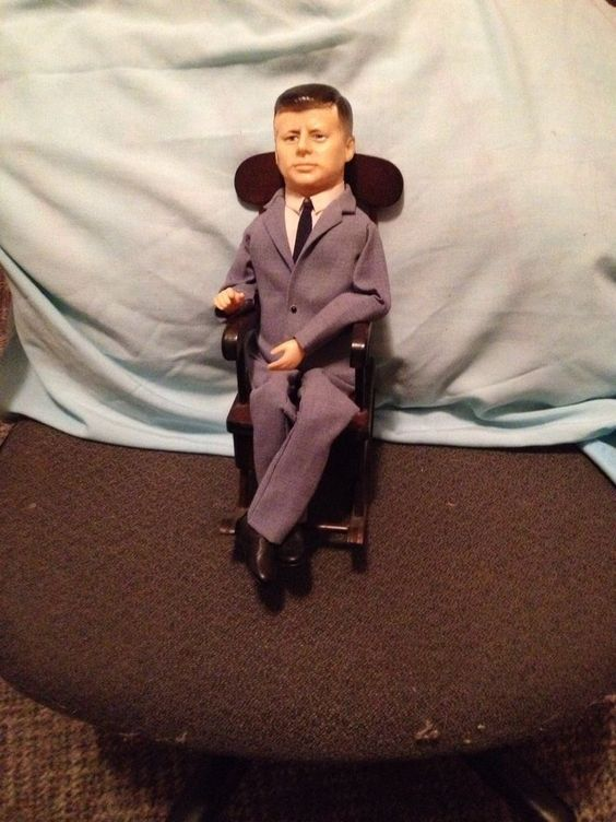 jfk rocking chair marcel breuer cesca john f. kennedy doll kamar #kamar   oz's vintage toy youth collection ...