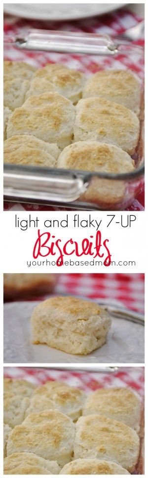 Light and Flaky Biscuits are made with 7-Up or Sprite! Easy and Quick Bread Side Recipe via Your Homebased Mom - The Best Homemade Biscuits Recipes - Quick, Easy and Delicious Bread Sides for Breakfast, Brunch, Lunch and Family Dinner!
