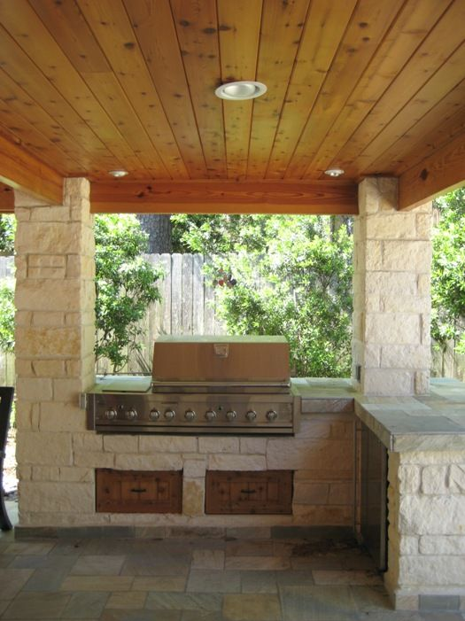 Outdoor kitchens, Tongue and groove and Tongue and groove