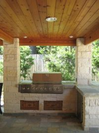 Outdoor kitchens, Tongue and groove and Tongue and groove ...