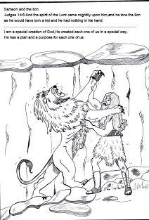 Samson Bible Sunday school lesson ~ Samson and the lion