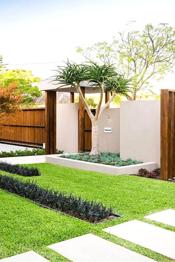 Front Garden Ideas Modern Beautiful And Clean Green Garden For