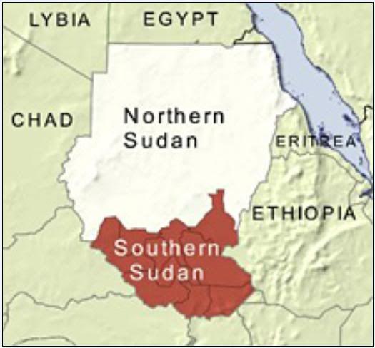 Sudan Map  africa s longest civil war between south