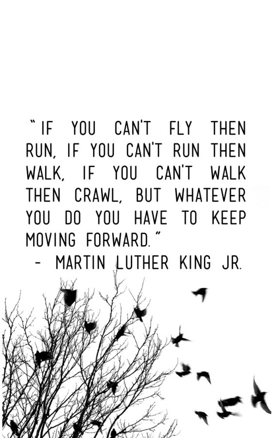 """January: """"If you can't fly then run, if you can't run then"""