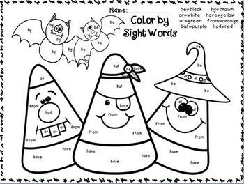 Sight words, October and Word work on Pinterest