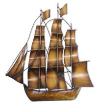 Sailing ships, Metal wall art and Contemporary design on ...
