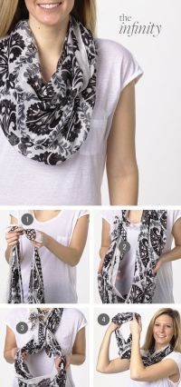 Tie the knots, Infinity and Scarfs on Pinterest