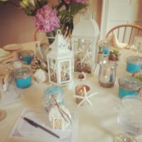 Beach themed weddings, Wedding shower decorations and ...