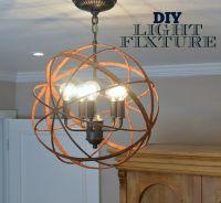 DIY Orb Light | Diy Light Fixtures, Light Fixtures and Diy ...