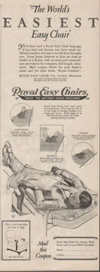 1925 Royal Easy Chair Co. Sturgis Michigan-Antique ...