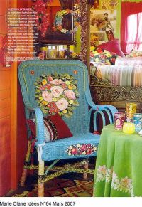 Painted Wicker & Lively Bohemian Decor   Decorating ...