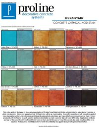 Dura-Stain acid stain color chart offered by Proline ...