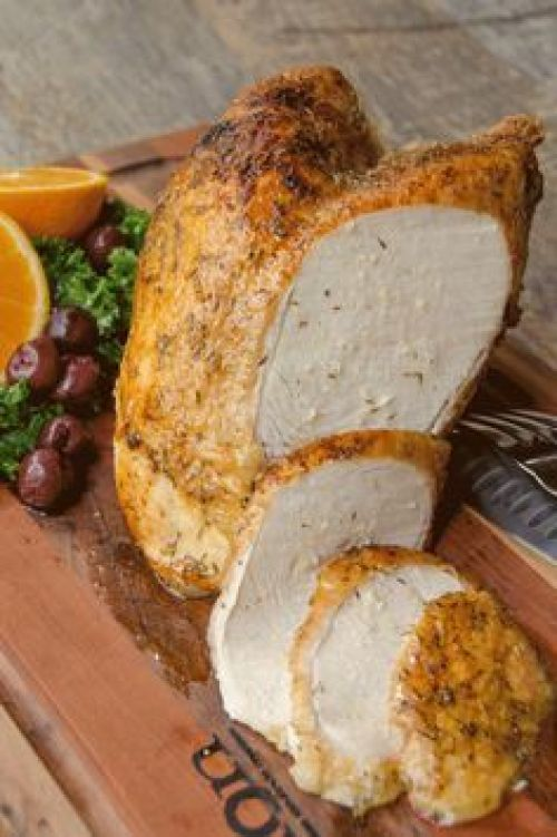 Air-Fried Turkey Breast with Maple Mustard Glaze (using the Air Fryer):