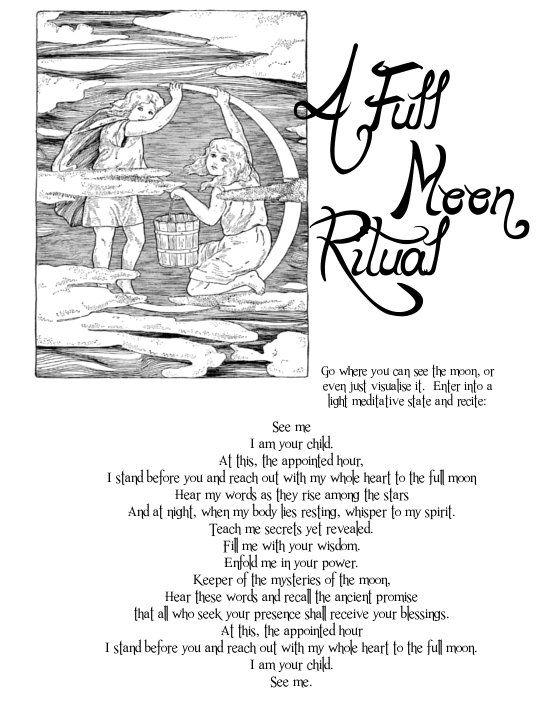 A Full Moon Ritual (Printable)