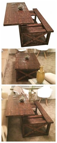 DIY Lift Top Coffee Table - Rustic X Style | Do It ...