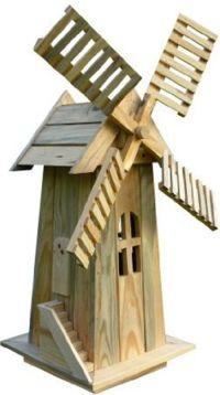 Details about American Windmill Lawn Ornament Cedar Wood ...