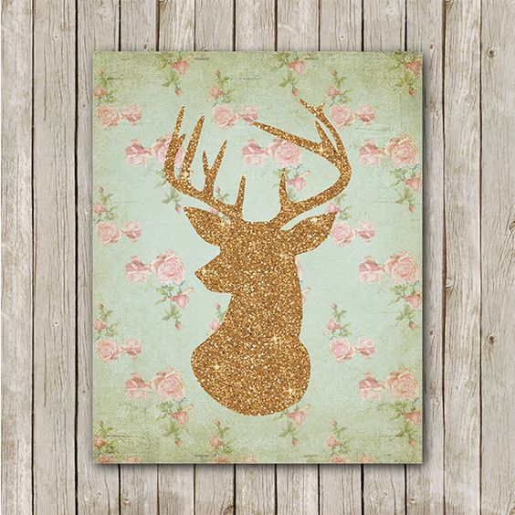 Deer Printable, 8x10, Instant Download Deer Art Print