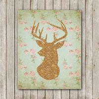 Deer Printable, 8x10, Instant Download Deer Art Print