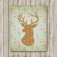 Deer Printable, 8x10, Instant Download Deer Art Print ...