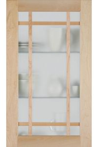 Shaker Mullion Cabinet Door with Frost Glass Insert ...