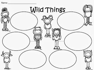 Free: Wild Things Bubble Organizers....based on the story