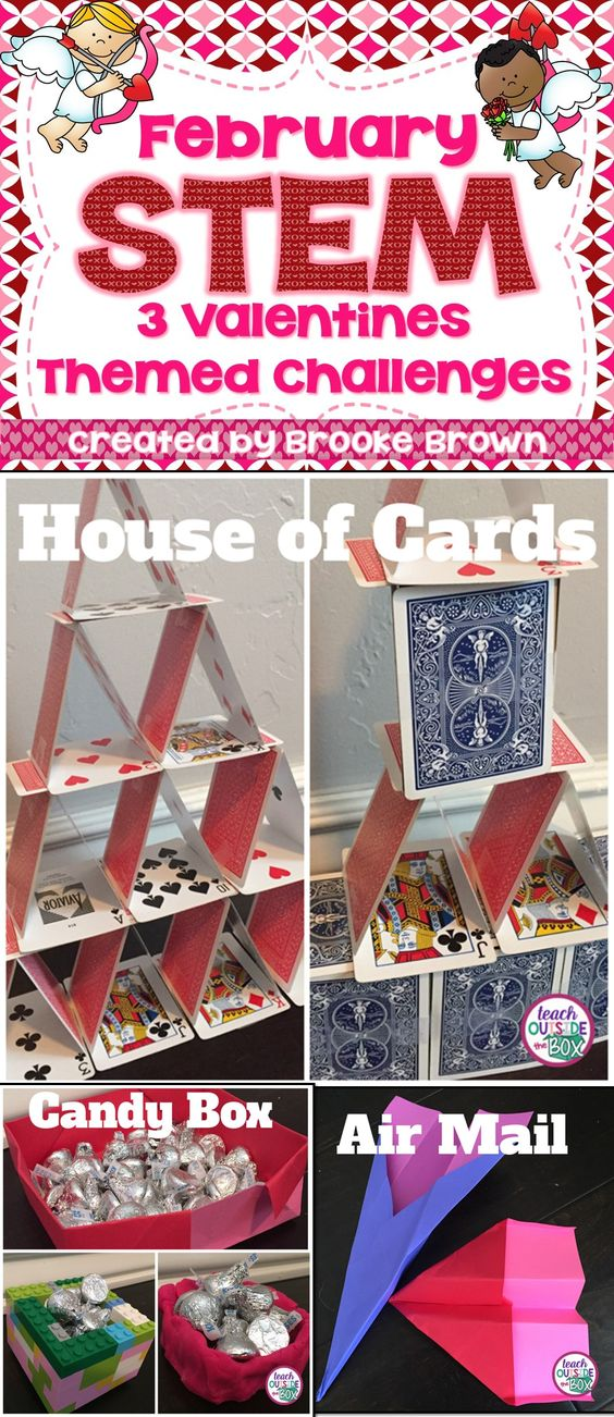 Valentines Day STEM Challenges February House Of Cards A House And Engineers