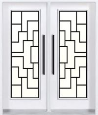 Contemporary wrought iron door design